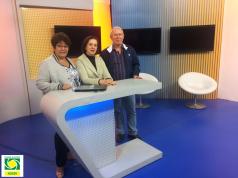 Visita na sede da TV Tribuna