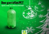 Doe garrafas pet. Ajude a criar um natal sustentável!