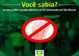 Lei que proíbe canudos plásticos já foi sancionada em São Vicente