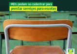 MEIs podem se cadastrar para prestar serviços para escolas