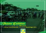 Passeio ciclístico em comemoração ao aniversário da área continental