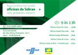 Área Continental recebe oficinas gratuitas do Sebrae até o fim do ano