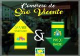 Comércio de São Vicente grande variedade e preço baixo